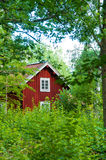 Red swedish cottage Stock Images