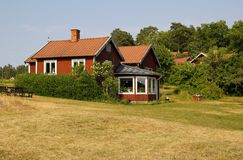 Red swedish house Royalty Free Stock Images
