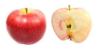 Red sweet apples Stock Photos