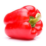 Red sweet bell pepper isolated on white background cutout Stock Photos