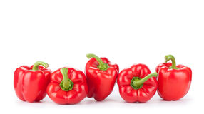 Red sweet bell peppers Royalty Free Stock Photo