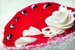 Red sweet cake Royalty Free Stock Photo