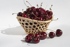 Red sweet cherries. Royalty Free Stock Photo