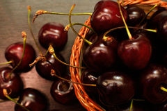 Red sweet cherries Royalty Free Stock Photography
