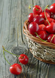 Red sweet cherries Royalty Free Stock Photo