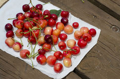 Red sweet cherries on the table Royalty Free Stock Image