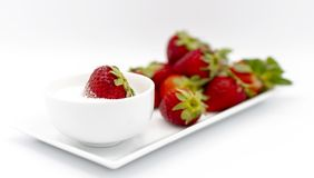 Red and sweet dessert stock image