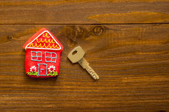 Red sweet house Stock Images