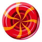 Red sweet lollipop candie icon, cartoon style Royalty Free Stock Images