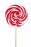 Red sweet lollipop isolated on white Royalty Free Stock Photography