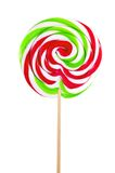 Red sweet lollipop isolated on white Stock Images