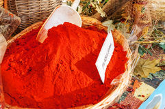 Red sweet paprika Stock Images