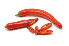 Red sweet pepper or capsicum  on white background Stock Photo