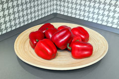 Red sweet pepper decoration Royalty Free Stock Photo