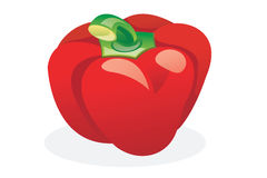 Red sweet pepper Stock Photography