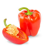 Red sweet peppers Stock Photos