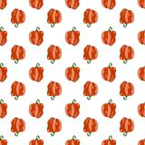 Red sweet peppers repeating pattern stock image