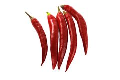 Red sweet pointed peppers. Stock Image