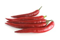 Red sweet pointed peppers. Royalty Free Stock Images