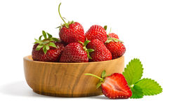 Red sweet strawberries in plate Royalty Free Stock Images