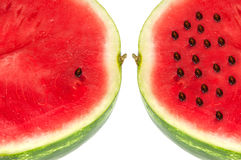 Red sweet watermelon. On a white background Royalty Free Stock Image