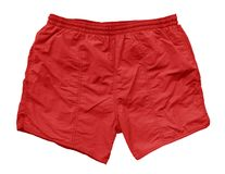 Swimming shorts - red Royalty Free Stock Photo