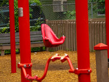 Red Swing Stock Photo