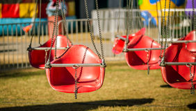 Red swing seat Stock Photo