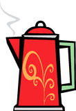 Red Swirl Coffee Pot Royalty Free Stock Photos