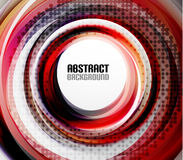 Red swirl dotted helix shape vector background Royalty Free Stock Image