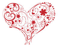 Red Swirling heart Royalty Free Stock Photography
