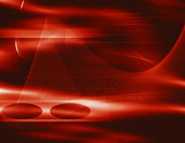 Red swirling lines. Photoshop illustration Stock Image
