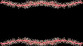 Red swirls animated frame, stock footage Royalty Free Stock Images