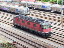 Red Swiss Locomotive Stock Image
