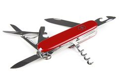 Red Swiss Multi Function Tool Stock Photography