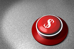 Red Switch Dollar sign Royalty Free Stock Image