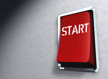 Red Switch Start Royalty Free Stock Images