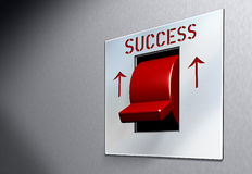Red Switch SUCCESS. Business illustration red switch with caption Success Stock Photos