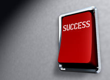 Red Switch SUCCESS. Business illustration red switch with caption Success Stock Photo