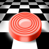Red sword on a chess-board Royalty Free Stock Images