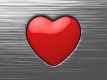 Red symbol of love Stock Image