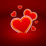 Red Symbol of many hearts Stock Images