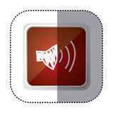 Red symbol volume technology icon Stock Images
