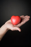 Red symbolical heart Royalty Free Stock Images