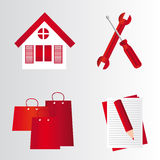 Red symbols Stock Photography