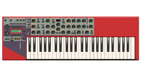 Red Synthesizer Stock Images