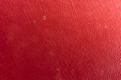 Red synthetic leather background Stock Photo