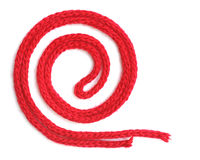 Red synthetic ropes Royalty Free Stock Image