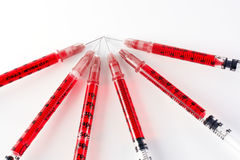 Red syringe Royalty Free Stock Photos