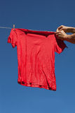Red t-shirt. Stock Photography